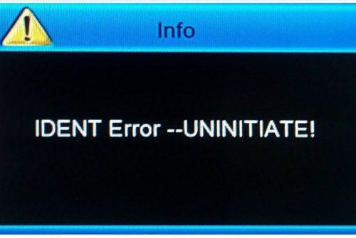 Чипы для устранения ошибки Ident Error Uninitiate