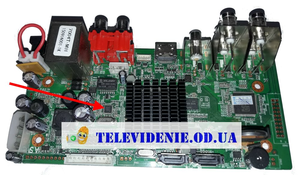 Ремонт сетевой карты LAN регистратора DigiGuard DG-1004HD